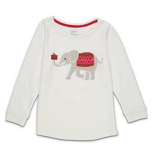 NWT! Crown & Ivy Girls Elephant Sweeper Tee